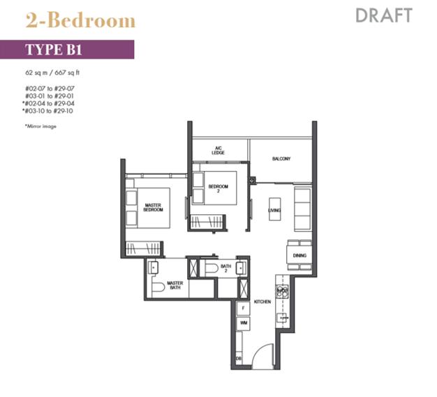 pullman residences floor plan_2bedroom