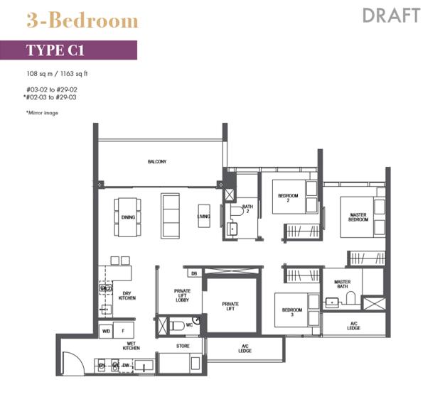 pullman residences floor plan_3bedroom