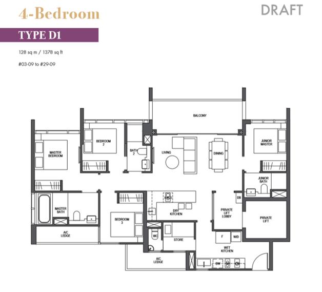 pullman residences floor plan_4bedroom